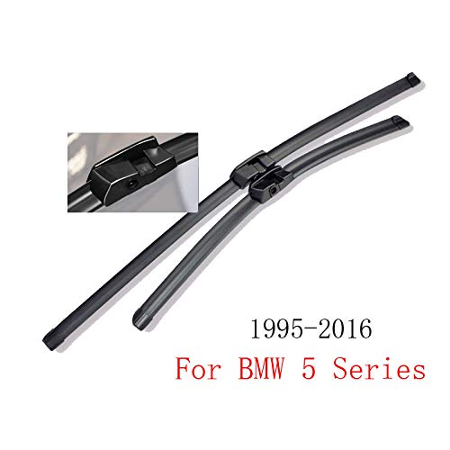 WANGLEISCC Frontwischer Für BMW 5er E39 E60 E61 F07 F10 F11 1995-2016, WischerblätterWindscreen Rubber Car Accessories