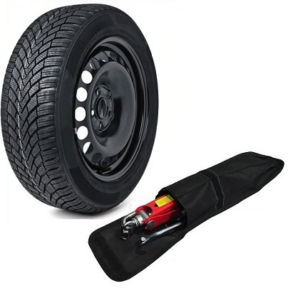 Roue de secours et pneu 225/60R17taille complète 43,2cm en acier + kit d'outil