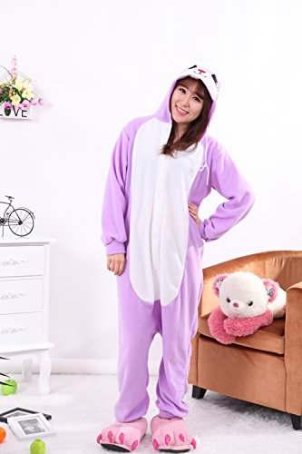Honeystore Jumpsuit Cartoon Häschen – Cosplay Pyjama Schlafanzug - 3