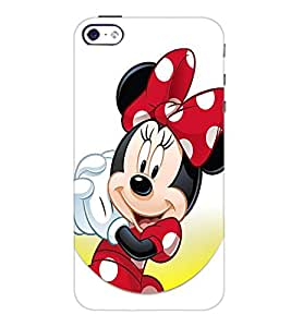 PrintDhaba Minnie Mouse D-2238 Back Case Cover for APPLE IPHONE 4S (Multi-Coloured)