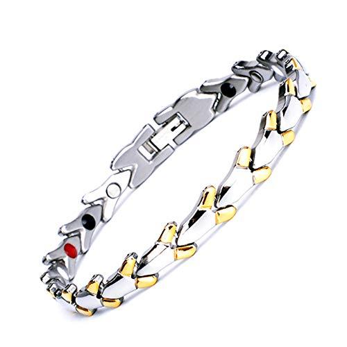 CLHCilihu Titan-Magnet-Armband für Frauen, Therapeutic Energie Magnet-Armband-Armband, für Entlastung Arthritis, Menopause, die Blutzirkulation, Stress Schmuck