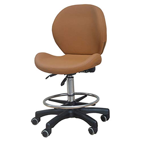 Biezutu Verstellbarer Sattelsalon Massagestuhl mit Backrest Swivel Hydraulic Gas Lift Ergonomic Chair für Hairdressing Manicure Tattoo Therapy Beauty Work Chair -