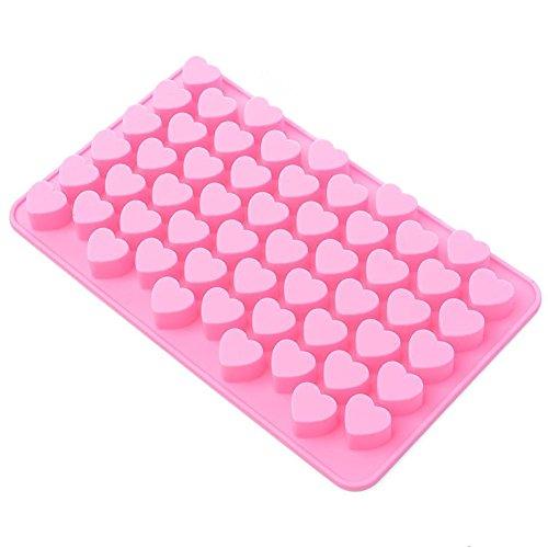 Westeng, stampo in silicone a forma di cuore per torta, biscotti, cioccolatini, stampo antiaderente per dolci fai da te, colore: rosa