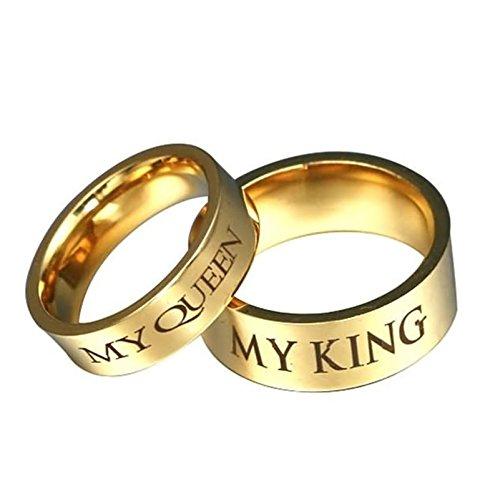 Coniea 8MM Ring Frauen Edelstahl My King und -