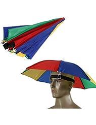 westeng 1Golf Angeln Camping mit Kopfbedeckungen Cap Sonne Regen Regenschirm Hat 55cm Dia