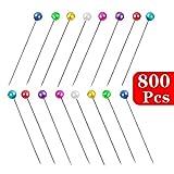 80 Perla Testa Sartoria Fioristi Pin Cucire Nozze Colorate Artigianali Su Misura