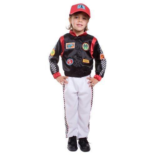 Race Car Driver- Large 12-14 by Dress Up America (Race Car Driver Kostüm Kind)