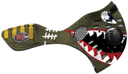 RZ Mask Spitfire, Large (Regular) – Atemschutzmaske mit Aktivkohlefilter plus 1 Filter und Etui gratis!