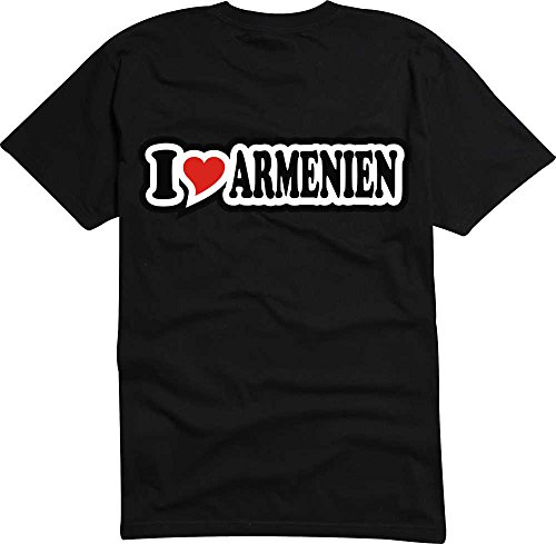 T-Shirt I Love Heart Herren I LOVE ARMENIEN Schwarz
