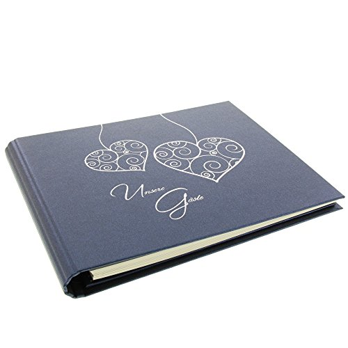 Goldbuch 47 010 Gästespiralalbum Two Hearts, blau