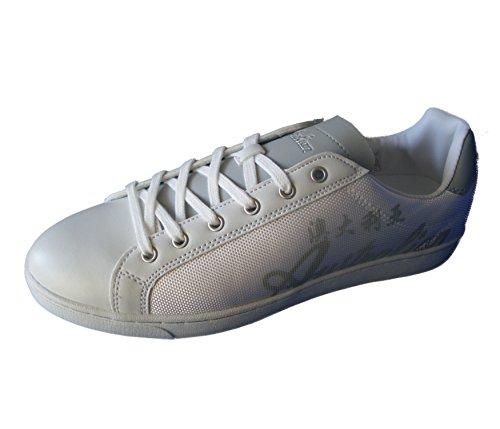 AUSTRALIAN MOD FURY scarpe sportive basse uomo, bianco (white), 41 Bianco