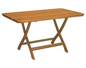 Gartentisch Mainau klappbar eckig - Nostalgie aus Holz - braun lackiert - Qualität aus Deutschland