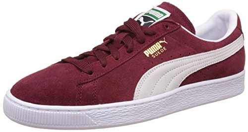 Puma Suede Classic 352634 Sneaker Uomo, Rosso (BURGUNDY/WHI 75BURGUNDY/WHI 75), 44.5