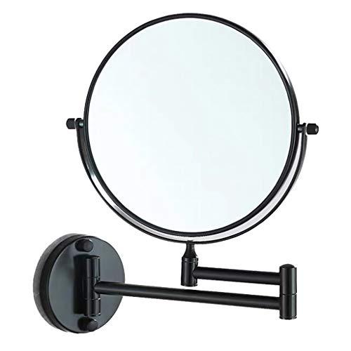 Perfeclan Espejo de Pared de Doble Cara de Aumento 1x / 3x, Espejo de Baño en Aluminio Duradero, Cromo...