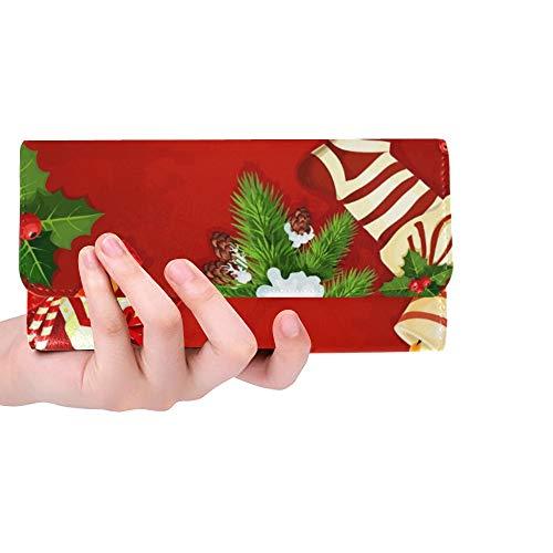 Einzigartige benutzerdefinierte Ornament Karte Design Lebkuchen Frauen Trifold Brieftasche Lange Geldbörse Kreditkarteninhaber Fall Handtasche