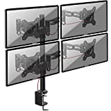Duronic DM354 Monitorhalterung/Tischhalterung/Monitorarme/Monitorständer für LCD/LED Computer Bildschirme/Fernsehgeräte mit Neig und Rotierfunktion