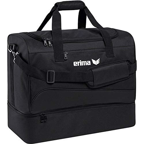 Erima Sporttasche mit Bodenfach Club 1900 2.0, Schwarz, L, 60x33x45 cm, 89 Liter