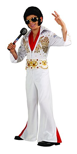 Rubies Deluxe Elvis Child Costume, Medium, One Color by - Deluxe Kinder Elvis Kostüm