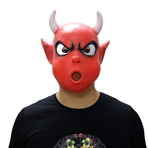 LBAFS Halloween Maske Kinder Nette Lustige Kleine Teufel Maske Kopfbedeckung Lokomotive Cartoon Puppe Tanz Maske