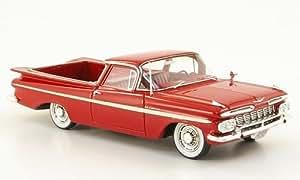 Chevrolet El Camino, noire-rouge , 1959, Model Car, Miniature déjà montée, Neo 1:43