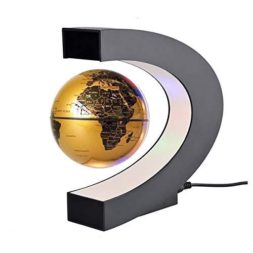 FAY Globo Mondiale a Sospensione a Forma di C, Globo Girevole educativo (Luce a LED), Globo interattivo a Realtà Aumentata per Bambini, Giocattolo per età Bambino a 10 Anni,Gold