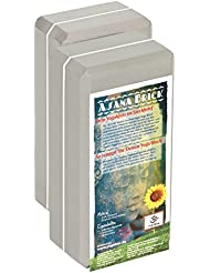 Yogabrick / Yogablock high density white joint, 22 x 11 x 7, 4 cm Schadstoffgeprüft - recycelbar - abwaschbar Material: EVA-Schaum (Ethylene-Vinyl-Acetat)