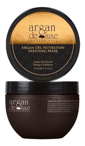 Arganöl Haarmaske in Friseur-Qualität ✔ intensive Pflegekur ✔ Geschmeidigkeit, Glanz, toller Duft ✔ Argan DeLuxe, 250ml -