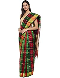 CLASSICATE From the house of Classicate From The House Of The Chennai Silks - Kora Silk Cotton Saree - Multicolor - (CCMYSC9482)