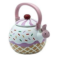 Supreme Housewares Whistling Tea Kettle, Strawberry Cupcake