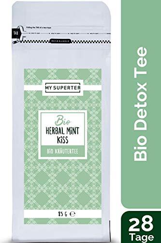 MY SUPERTEA - Bio Kräuter Tee - Herbal Mint Kiss I 28 Tage Tee Kur mit erfrischendem Minzgeschmack I 85 Gramm -