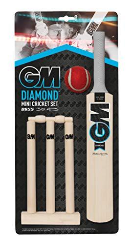 Gunn & Moore GM Cricket Cricket-Set mit Diamanten, Schwarz/Blau/Weiß, Einheitsgröße