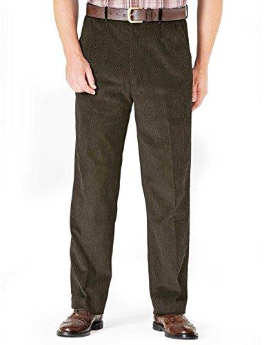 Chums Herren Stretch Cordhose Grün Taille 117cm x Kurz - 69cm