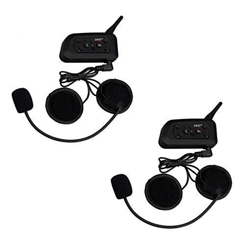 2 x Ejeas V6 Auriculares Intercomunicador...