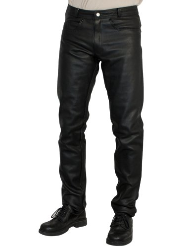 Roleff Pantalón de Cuero Racewear, Negro, 48
