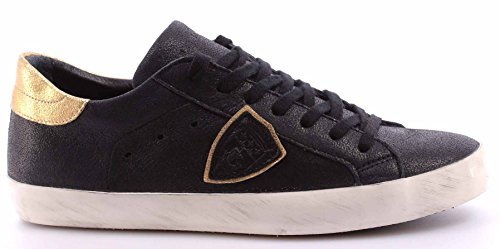 Scarpe Sneakers Uomo PHILIPPE MODEL Paris Classic Bassa Metallic Nero Italy New