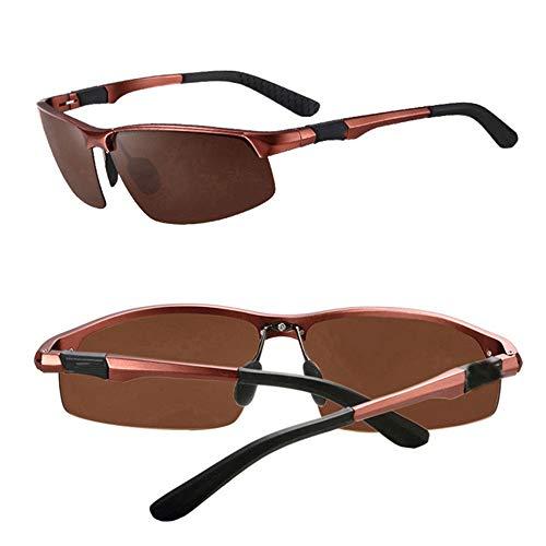 Polarisierte Sonnenbrille Nachtsicht Männer 100% UV Tag und Nacht fahren