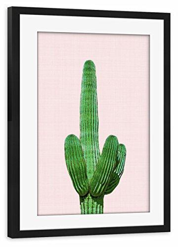 Wüste Umrahmt (artboxONE Poster mit Rahmen schwarz 45x30 cm