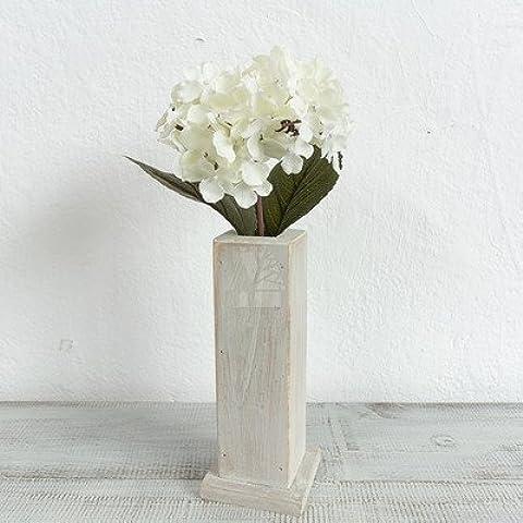 SDN2-letteraria e stile Art Nouveau hydrangea così vecchi vasi in legno elegante fiore di seta fiore di emulazione kit ornamenti di studio , Bianco