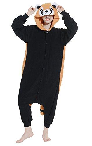 Imagen de dato ropa de dormir pijama panda rojo cosplay disfraz animal unisexo adulto