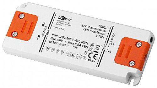 Goobay LED Trafo 24V (DC) für 0,5 bis 12 Watt LED-Lampen, 1 Stück, 30632