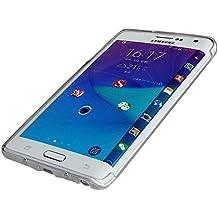 Samsung Galaxy Note Edge Funda de silicona de TPU flexible y resistente con una superficie suave, tapa en negro de NAUC®