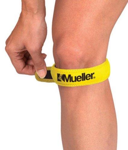 Mueller Kniegurt / Jumper's Knee Strap, Einheitsgrösse, gelb - Patella Tendonitis Gurt