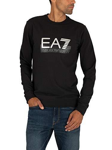 EA7 Herren Grafisches Sweatshirt, Schwarz, S