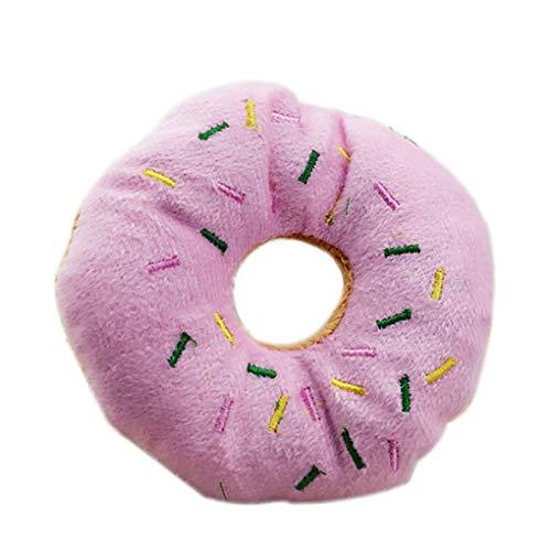 Level Pet Donut-Form-Plüsch-Spielzeug Spielen Pet Chew quietschende Spielzeug-Hund Katze-Ton-Wiedergabe-Tool