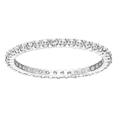 Swarovski anello vittore, bianco, placcatura rodio