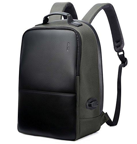 Imagen de bopai negocios  anti robo 15.6 pulgadas portátil  con puerto de carga usb ciudad bolsa de para macbook pro iphone resistente al agua  para portátil verde militar l alternativa