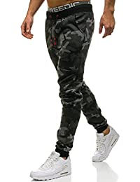 BOLF Hombre Deporte Pantalones Entrenamiento Fitness Jogger Motivo 6F6 Mix d985cf63162