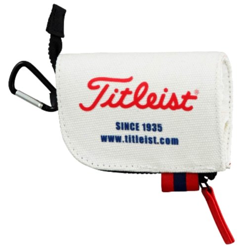 Titleist Golf Tee Case Small Pouch bag 2014 Model AJTE42 White by Titleist