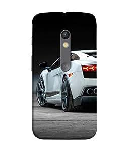 FUSON Designer Back Case Cover for Motorola Moto X Play (Automobile Car Concept Drive Fuel)