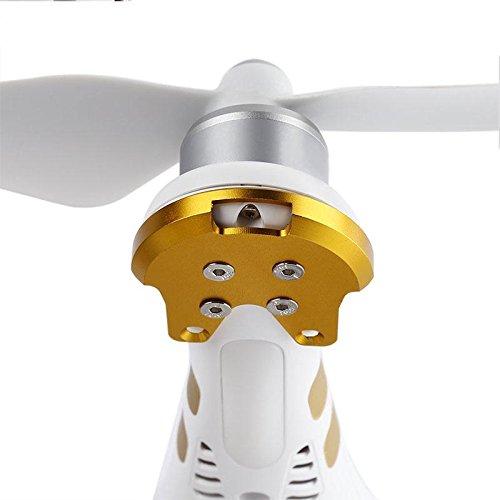 Jiayuane (Gold) Protective Base Halter, 4Pcs Metall Motor Protect Mount Base Quadcopter Ersatzteile für DJI Phantom 3 Aluminium Motor Mount